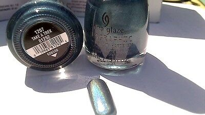 Gorgeous Blue Glaze (CHINA GLAZE TAKE A TREK HOLOGRAM HOLOGRAPHIC POLISH GORGEOUS BLUE SHIPS TODAY)
