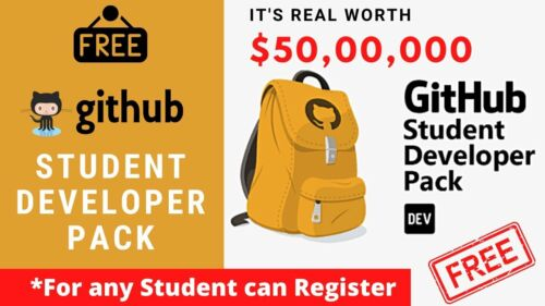 All Benefits GitHub Student Developer Pack - Fast Delivery Message