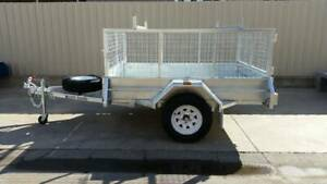 7X5 HEAVY DUTY SINGLE AXLE GALVANDISED TRAILER WITH CAGE Pooraka Salisbury Area Preview