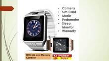 Smart Watch w/ CAMERA, SIM, Memory Card Smarwatch iPhone Samsung Melbourne CBD Melbourne City Preview