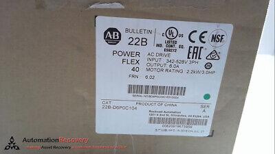 Allen Bradley 22b-d6p0c104 Powerflex 40 Ac Drive New 277100