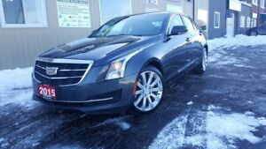 2015 Cadillac ATS Luxury AWD-NAVIGATION-SUNROOF-HEATED SEATS