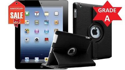 BUNDLE Apple iPad 2 16GB, Wi-Fi, 9.7in - Black - GRADE A CONDITION (R)