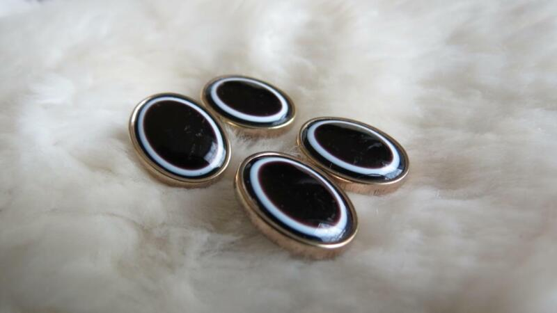 Antique Rolled Gold Bulls Eye Agate