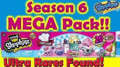WOW! Shopkins Season 6 Chef Club Megapack 56376 Mega Pack Over 20 Shopkins