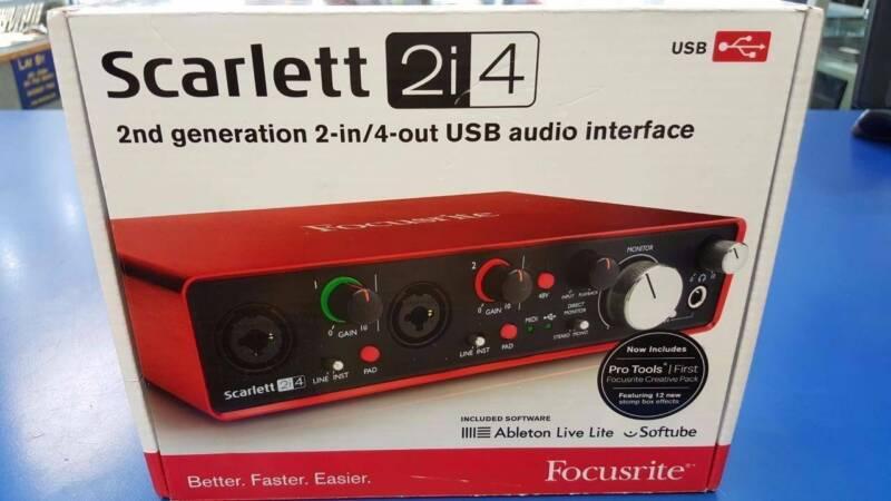 Focusrite Scarlett 2i4 2nd Gen USB Audio Interface Brand New