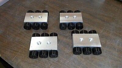 15 Ton Machinery Skate Set Of 4- 3-38 X 3-58 X 1-14
