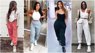 Womens Oversized Joggers Sweatpants Ladies Bottoms Jogging Gym Pants Lounge Wear