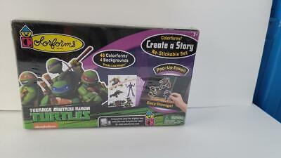 Colorforms ~ Teenage Mutant Ninja Turtles ~ Create A Story ~ Re-Stickable Set