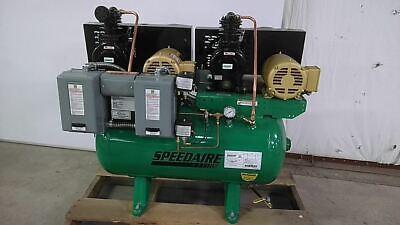 Speedaire 3jr81 1 Hp 1120 Rpm 208 To 240 480vac 30 Gal Electric Air Compressor