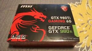 Selling MSI GTX 980ti Gaming 6G