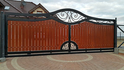 WROUGHT IRON HAND MADE SLIDING DRIVEWAY GATES  MADE TO MEASURE
