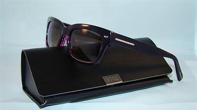 New Hugo Boss 0525 S 785EU Dark Purple Sunglasses Gradient Grey Lens Size (Hugo Boss Wayfarer Sunglasses)