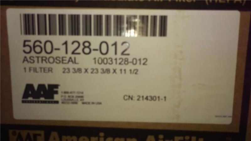 New AAF Astrocel 1 ~Clean Room HEPA Air Filter ~23 3/8 x 23 3/8 x 11.5 ~875 CFM