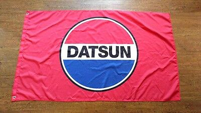 Datsun Red Flag Banner 3x5ft Fairlady Z 510 240z 280z B210 Garage Mancave Nissan