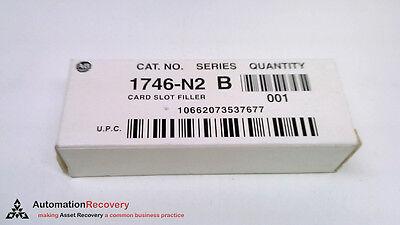 ALLEN BRADLEY 1746-N2 B, CARD SLOT FILLER SOLID PANEL GREY, NEW #119362 ()