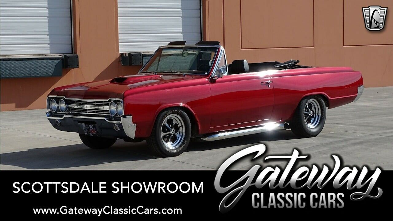 Viper Red 1965 Oldsmobile F85  Convertible 455 CID V8 3 Speed Automatic Availabl