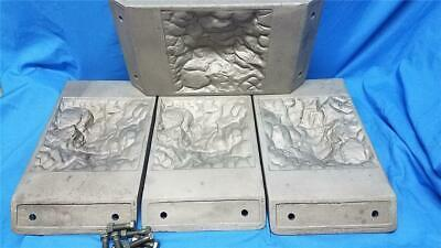 Rare Vintage Cast Iron Concrete Block Mold Plates - Simpson Cement Mold Co