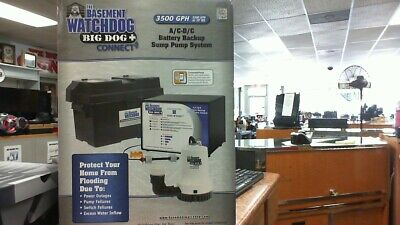 The Basement Watch Dog Bwd12-120c Battery Backup Sump Pump System