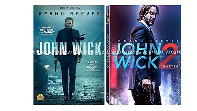 John Wick Complete Keanu Reeves Movies Series 1   Chapter 2   Brand New Dvd Set