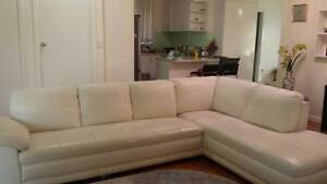 Demir genuine leather sofa Eastwood Ryde Area Preview
