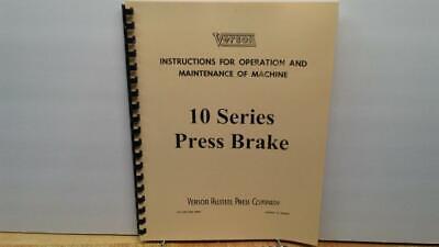 Verson 10 Series Press Brake Operation Maintenance Manual