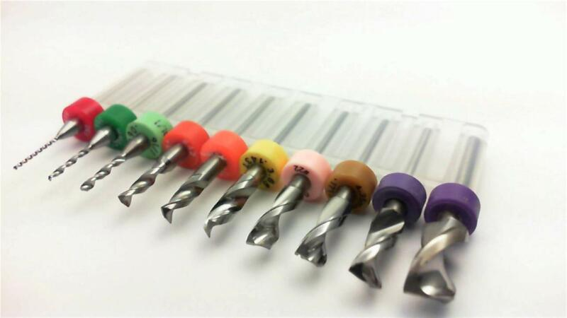 "Ten Piece Carbide Drill Set - <10 Sizes: 1/32"" to 1/4""> wood metal plastic B+"