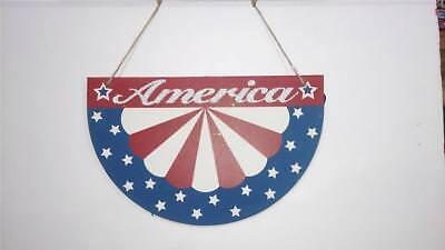 FOURTH OF JULY HOLIDAY PATRIOTIC AMERICA MEMORIAL FLAG APRON DESIGN WALL - Fourth Of July Signs