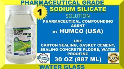 Humco Sodium Silicate Solution Water Glass Solution 30 Oz Jar Usa Made 102022