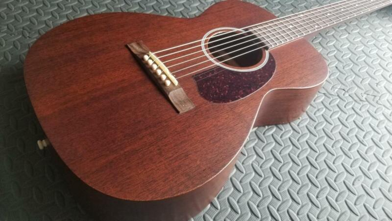 NEAR MINT 2012 GUILD M-20 CONCERT NATURAL OM SIZE SOLID MAHOGANY W/ OHSC  WOW