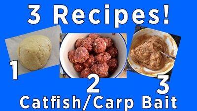 Best 3 Catfish Bait Recipes! (Catfish/Carp 3 Recipes!) 3mailed ASAP! RECIPE