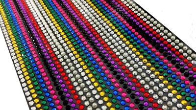 (CraftbuddyUS 1500 x 5mm Self Adhesive Rhinestones Individual Gems Multi Colors)