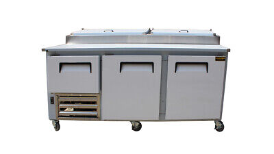 84 New Us-made Two Half 2 Door Refrigerated Pizza Salad Prep Table Restaurant
