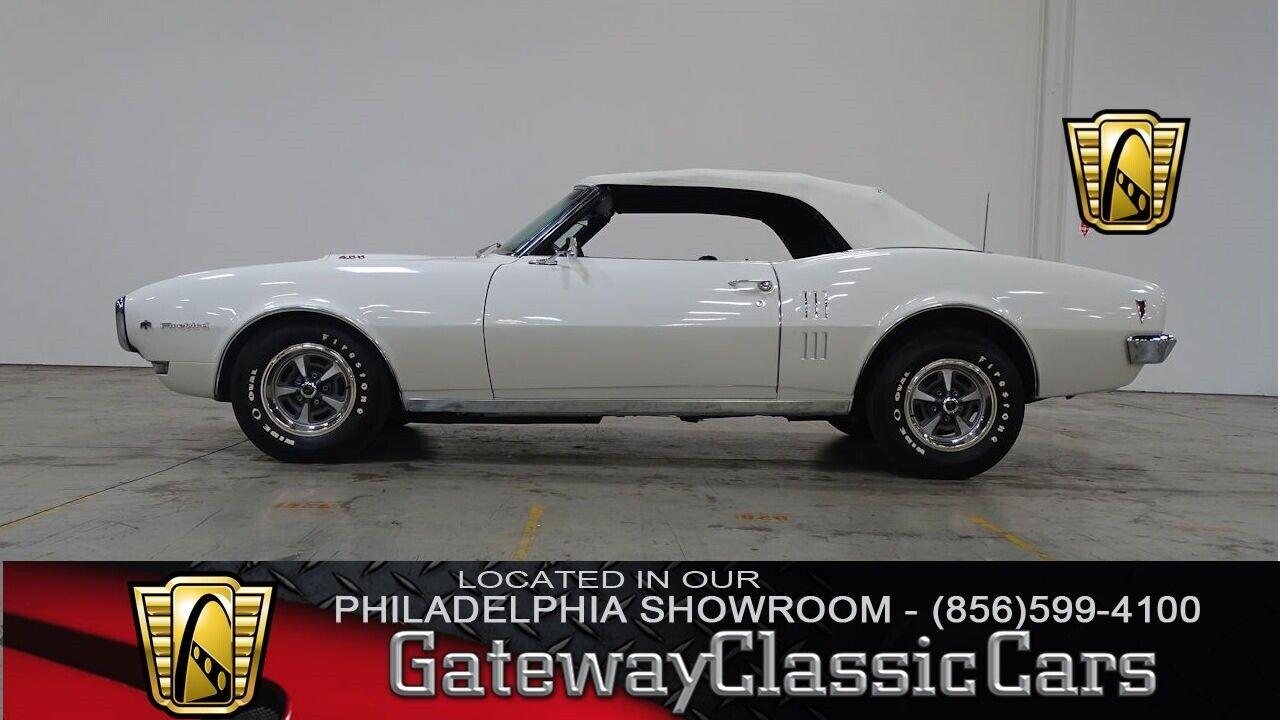 1968 Pontiac Firebird  White 1968 Pontiac Firebird Convertible 400 V8 400 CID V8 3 Speed Automatic Avai