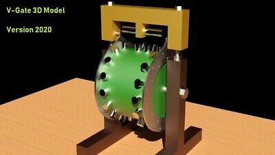 Magnetic Motor V-gate Free Energy Generator 3d Model Stl Step Dwg 3d Print