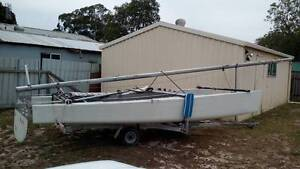 18 ft catamaran $400 or $800 with trailer Woy Woy Gosford Area Preview