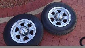 """185 Light truck tyres on 14"""" Jayco Alloy Rims Balga Stirling Area Preview"""