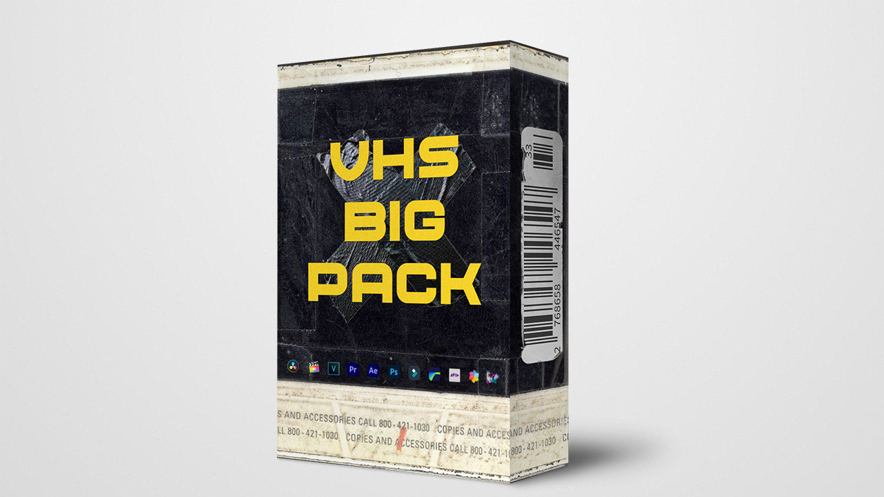 VIDEO MOTION - VHS Big Pack, VHS Footages, VHS Transitions, VHS Title - $2.99