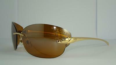 CARTIER PANTHERE T8200847 SMOOTH GOLD  FINISH SUNGLASSES Savannah Coloured Lens