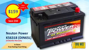 Car Battery NEUTON POWER K56318 (DIN65L MF) Slacks Creek Logan Area Preview
