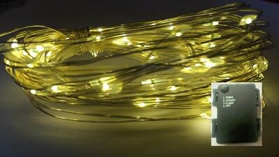 60LED WARM WHITE AA Battery 6m String Light+ON+FLASH+Timer modes+Use In/Outside