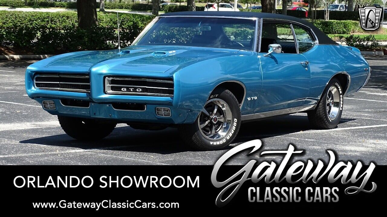 Blue 1969 Pontiac GTO Coupe 400 V8 4 Speed Manual Available Now!