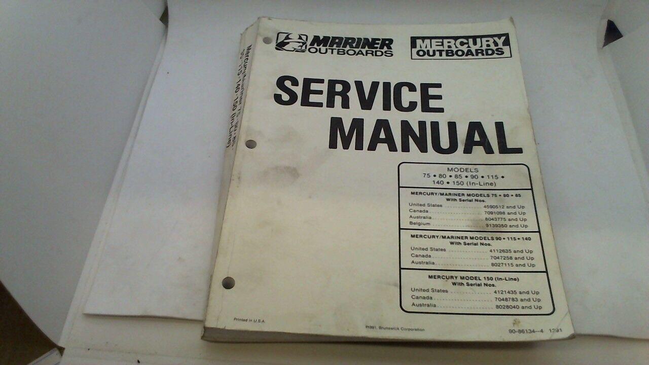 service manual manuel entretien mercury mariner 75 80 85 90 115 140 150 1991>