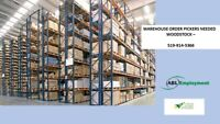 Warehouse Order Picker- positions available now!