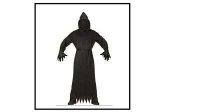 Grim Reaper Tod Fährmann Kostüm Männer Sensemann Ghost Halloween Karneval , (K) (Kostüm Grim Reaper)