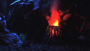 Volcano internal air pump led bubble maker aquarium decoration for Aquarium volcano decoration
