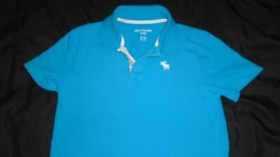 Boys Size 13/14 Abercrombie Kids Polo Style Short Sleeve Shirt Teal VGUC