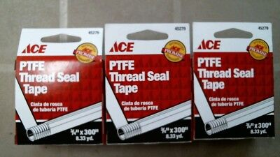 Ace 45279 Ptfe Thread Seal Tape 3 Per Order 34x 300 Free Shipping