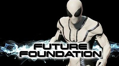 The Marvel Future Foundation Spider-Man 3D Printing With muscle Shading Costume  - Future Spiderman Costume