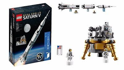 LEGO Ideas NASA Apollo Saturn V Rocket 21309 * Brand New Factory Sealed